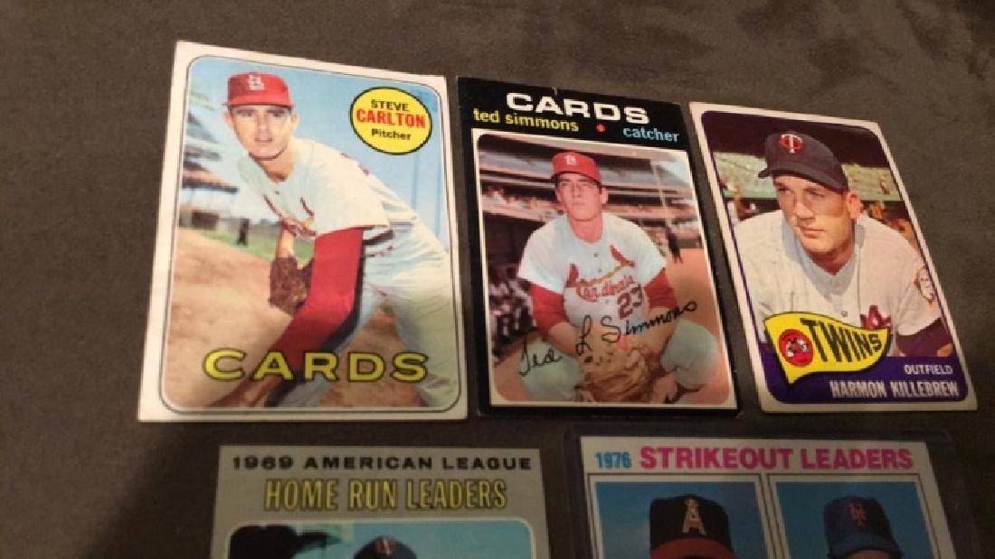 Five vintage baseball cards 1969 topps Steve - 3