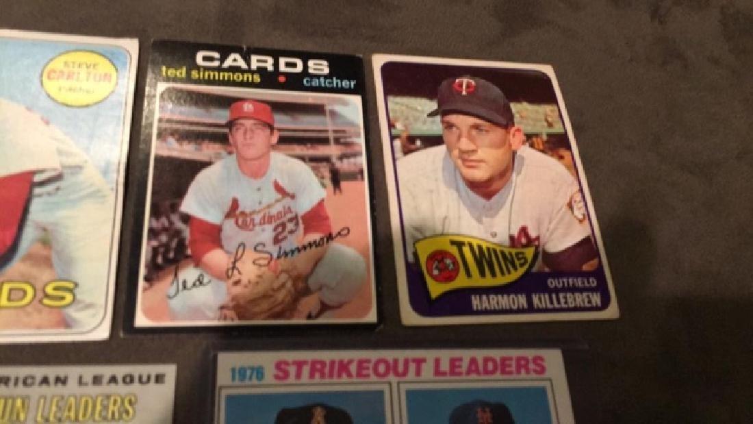 Five vintage baseball cards 1969 topps Steve - 4