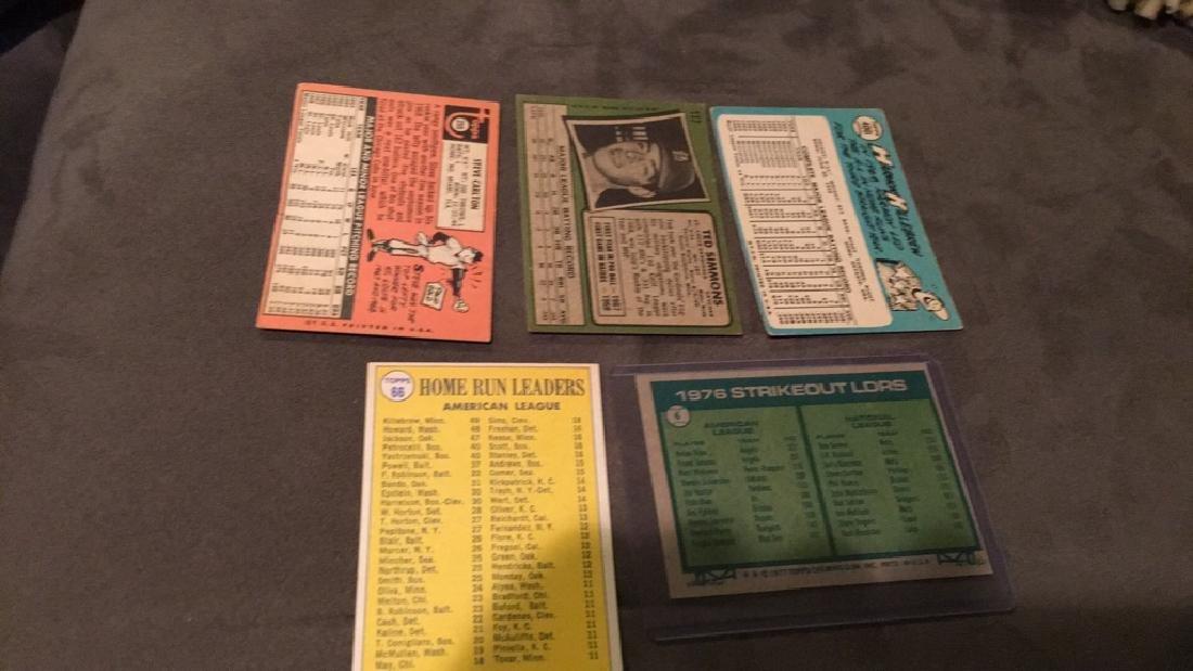 Five vintage baseball cards 1969 topps Steve - 5