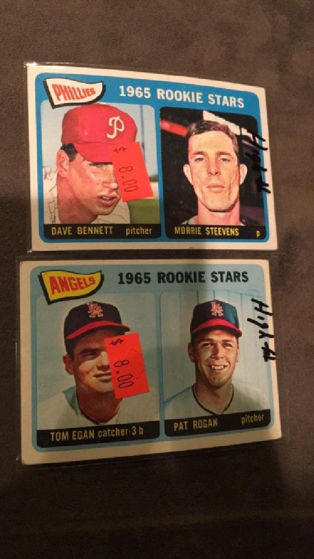 1966 rookie high number lot Dave Bennett Maury