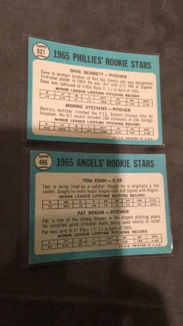1966 rookie high number lot Dave Bennett Maury - 2