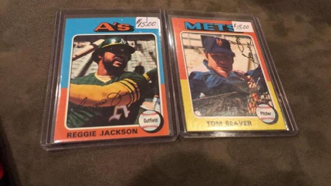1975 topps Reggie Jackson and Tom Seaver lot nice