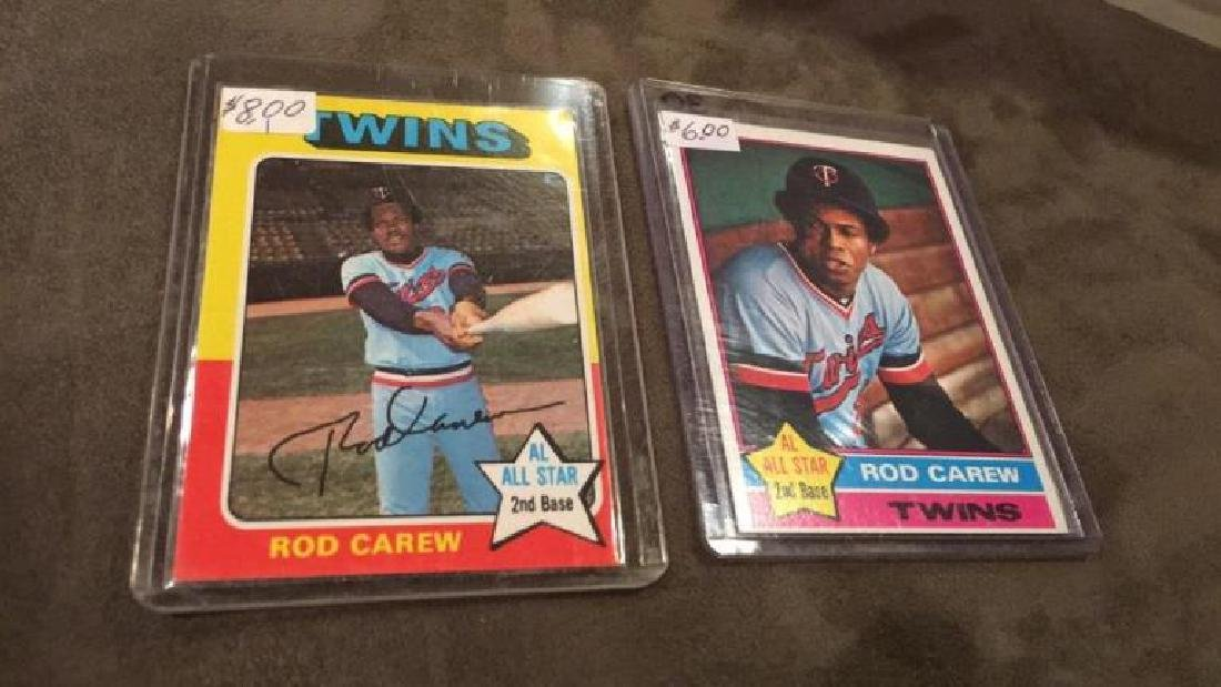 Rod Carew 1975 and 1976 topps lot