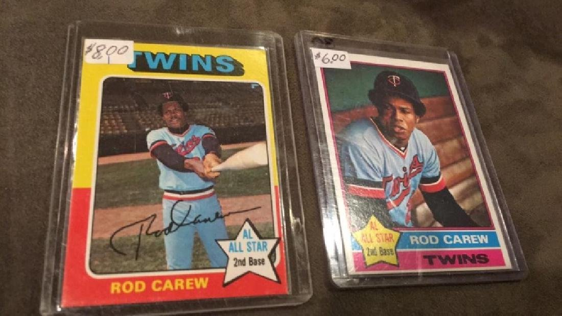 Rod Carew 1975 and 1976 topps lot - 2