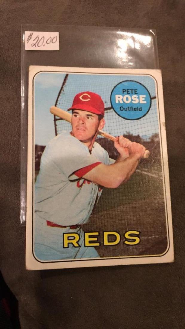 Pete Rose 1969 topps vintage card - 2