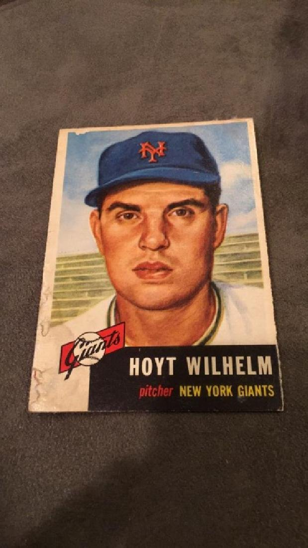 Hoyt Wilhelm 1953 Topps vintage baseball card