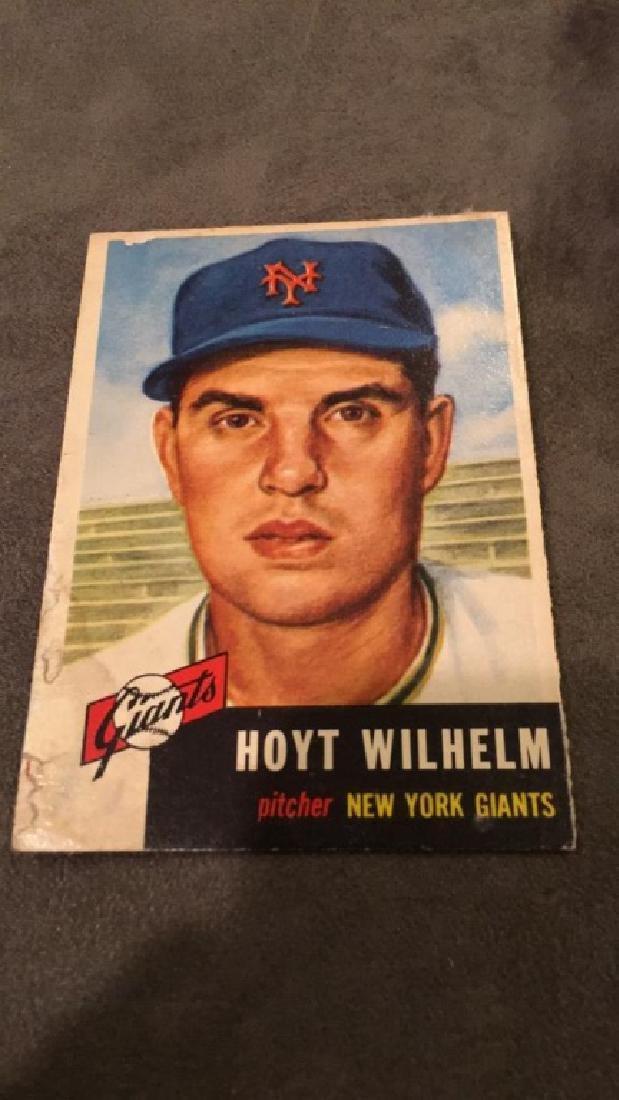 Hoyt Wilhelm 1953 Topps vintage baseball card - 2