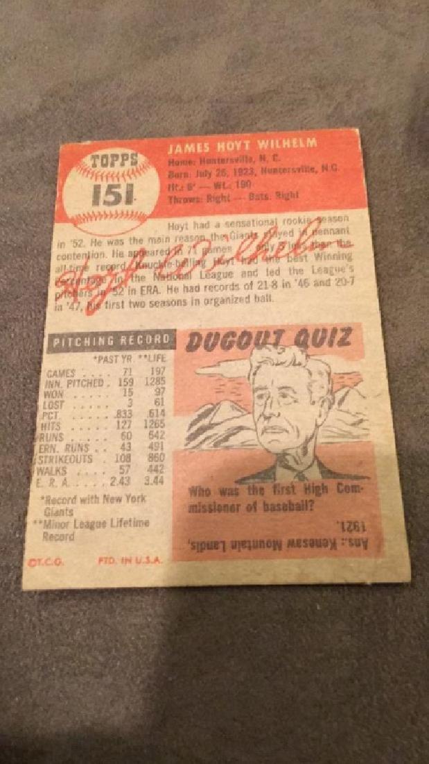 Hoyt Wilhelm 1953 Topps vintage baseball card - 3