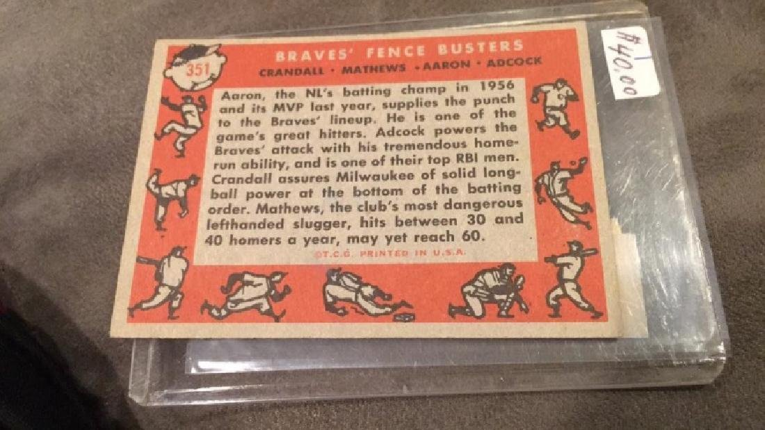 1960 topps Braves fence busters Matthews Hank - 2