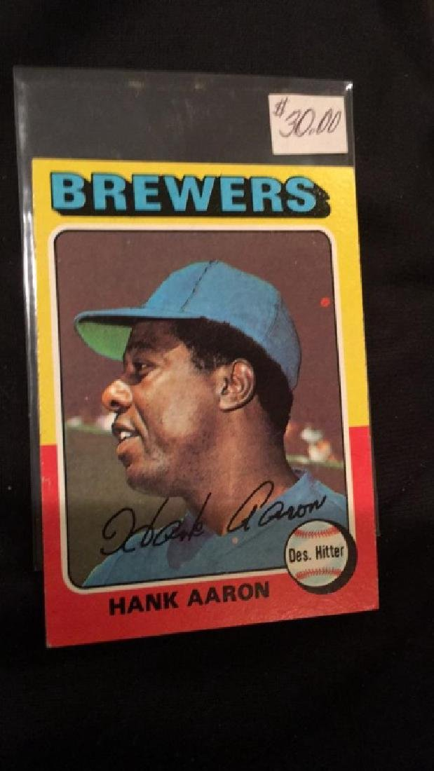 Hank Aaron 1975 topps vintage baseball card