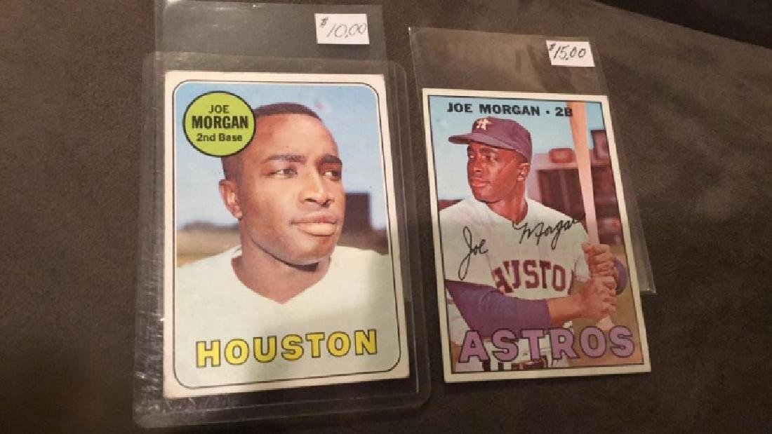 1967 and 1969 Joe Morgan tops vintage baseball