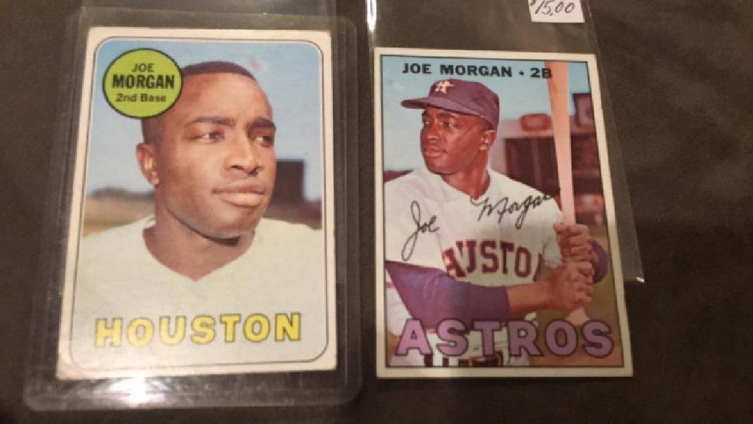 1967 and 1969 Joe Morgan tops vintage baseball - 2