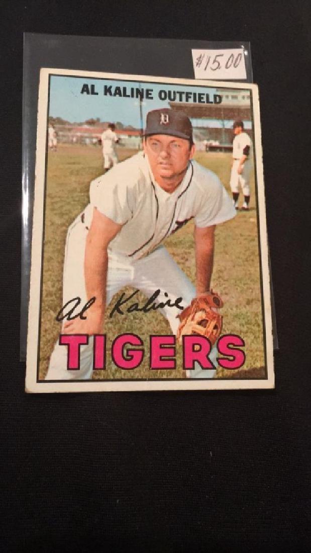 Al Kaline 1967 tops vintage baseball card