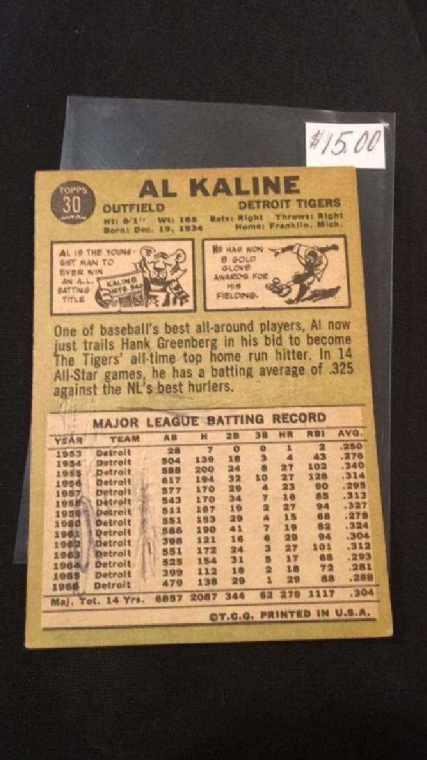 Al Kaline 1967 tops vintage baseball card - 2