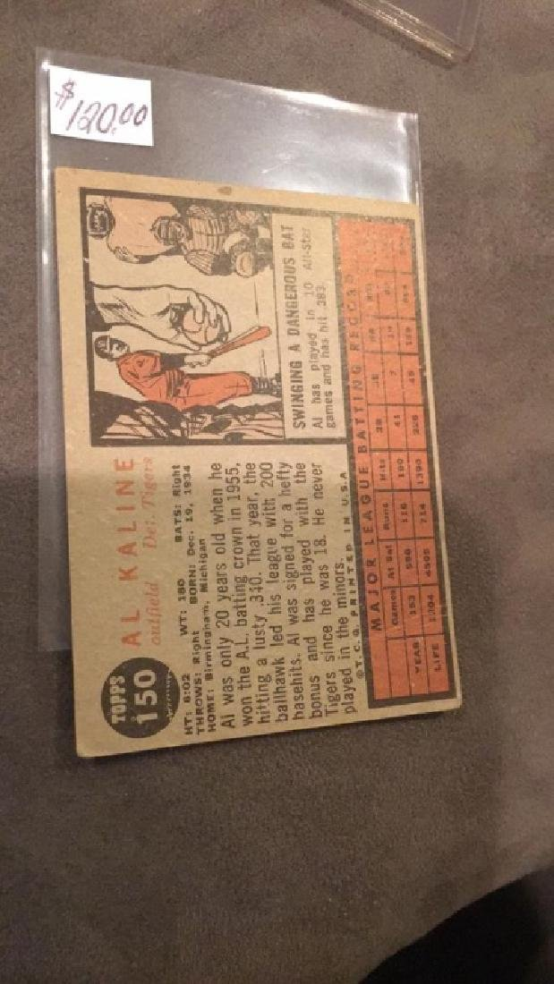Al Kaline 1962 Topps Vintage Card - 2