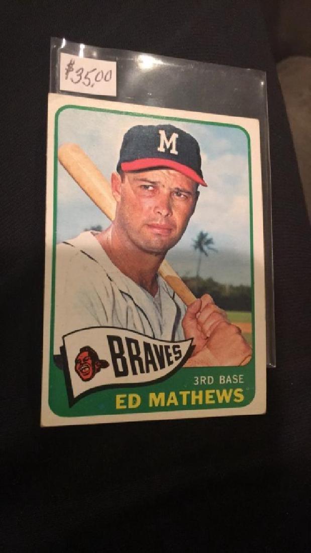 And Matthews 1965 tops vintage baseball card nice