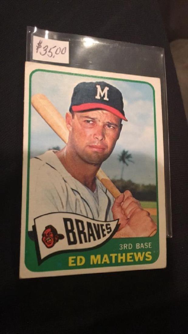 And Matthews 1965 tops vintage baseball card nice - 2
