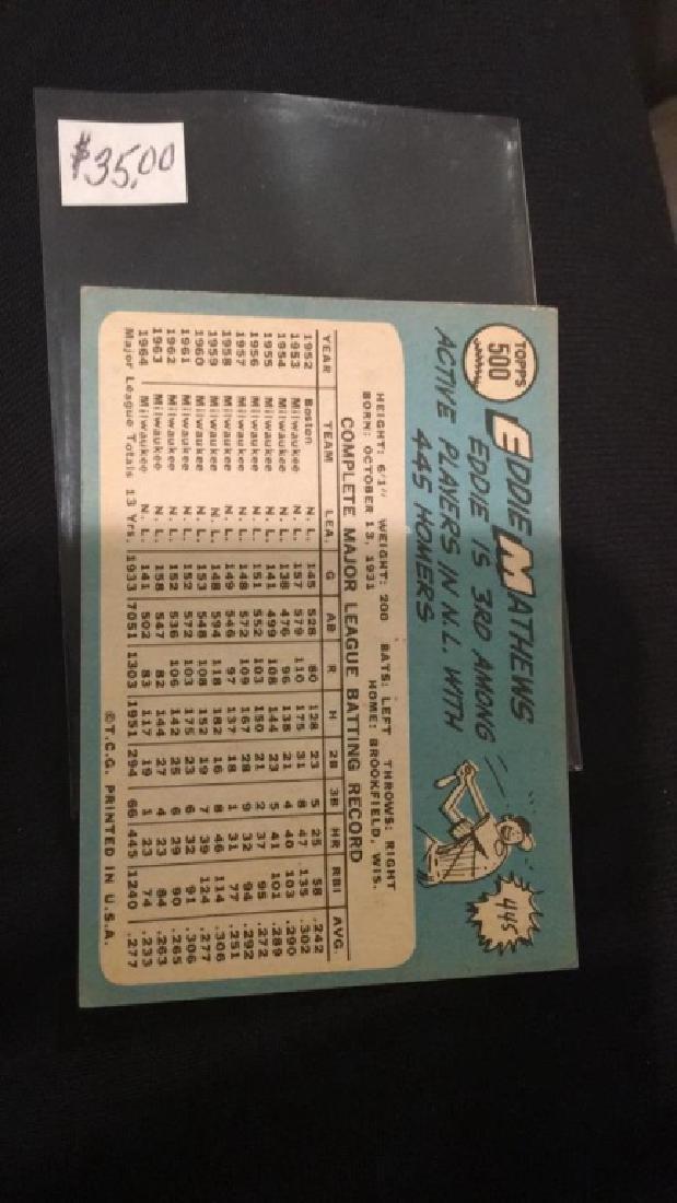And Matthews 1965 tops vintage baseball card nice - 3