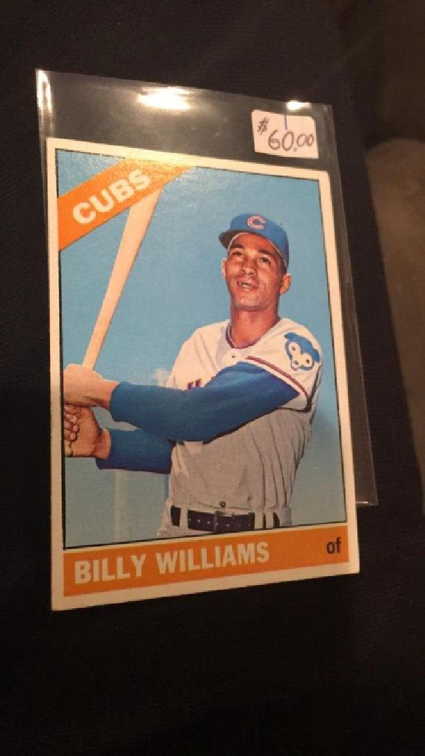 Billy Williams 1966 tops high number number 580