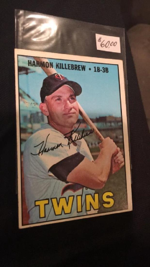 Harmon Killebrew 1967 tops vintage baseball card