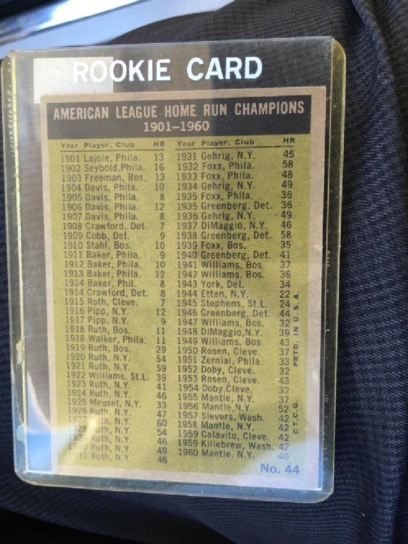 1961 TOPPS MICKEY MANTLE 1960 HOME RUN LEADERS #44 - 3