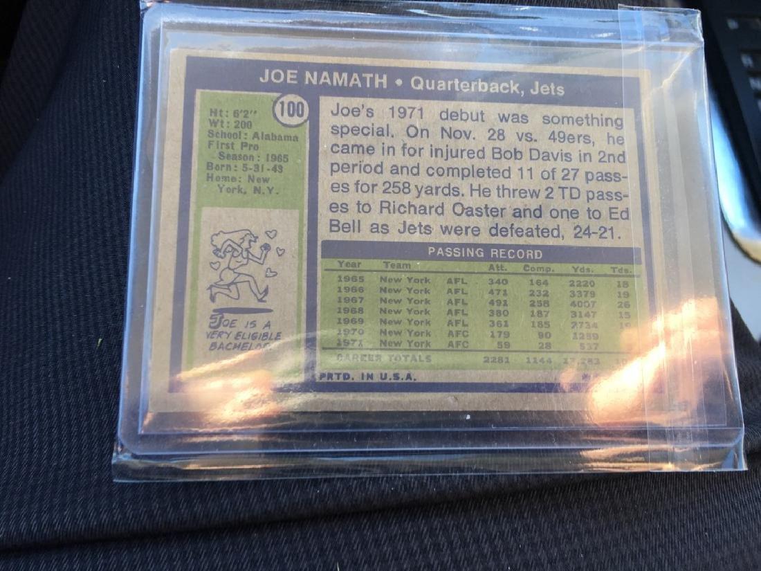1972 Topps Joe Namath Card # 100 NM - 2