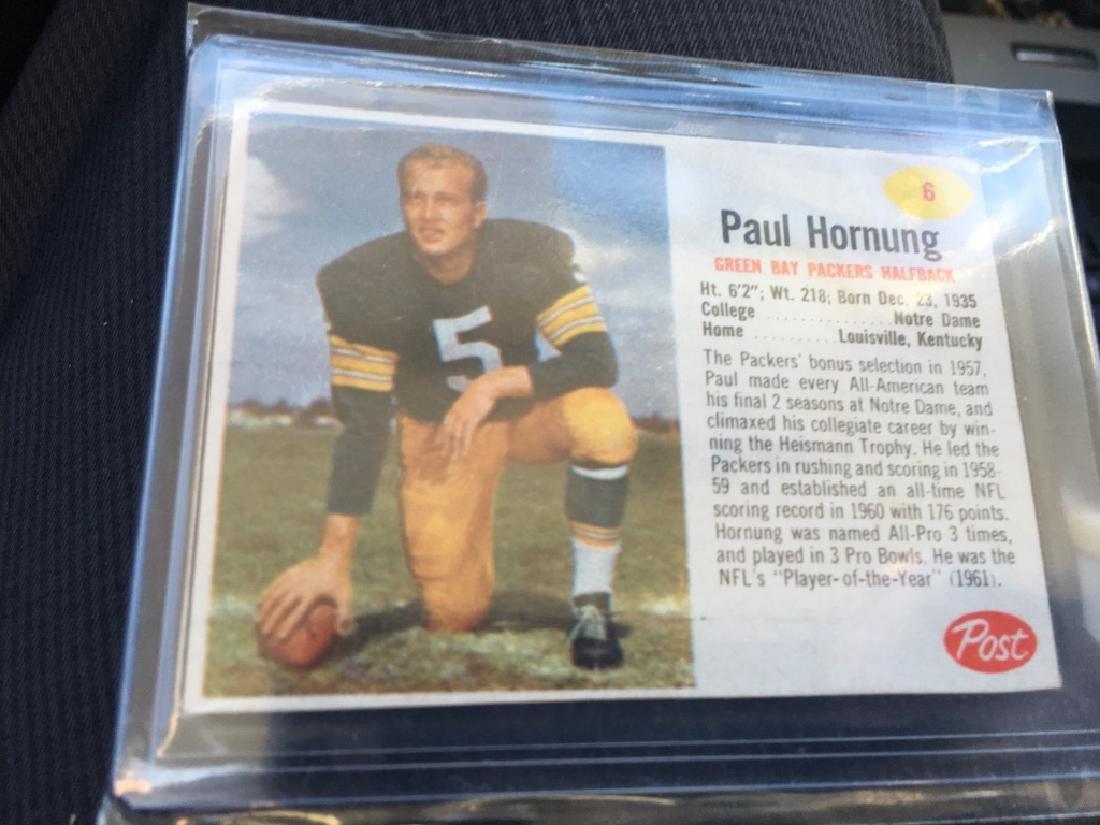 1962 Post Football Paul Hornung