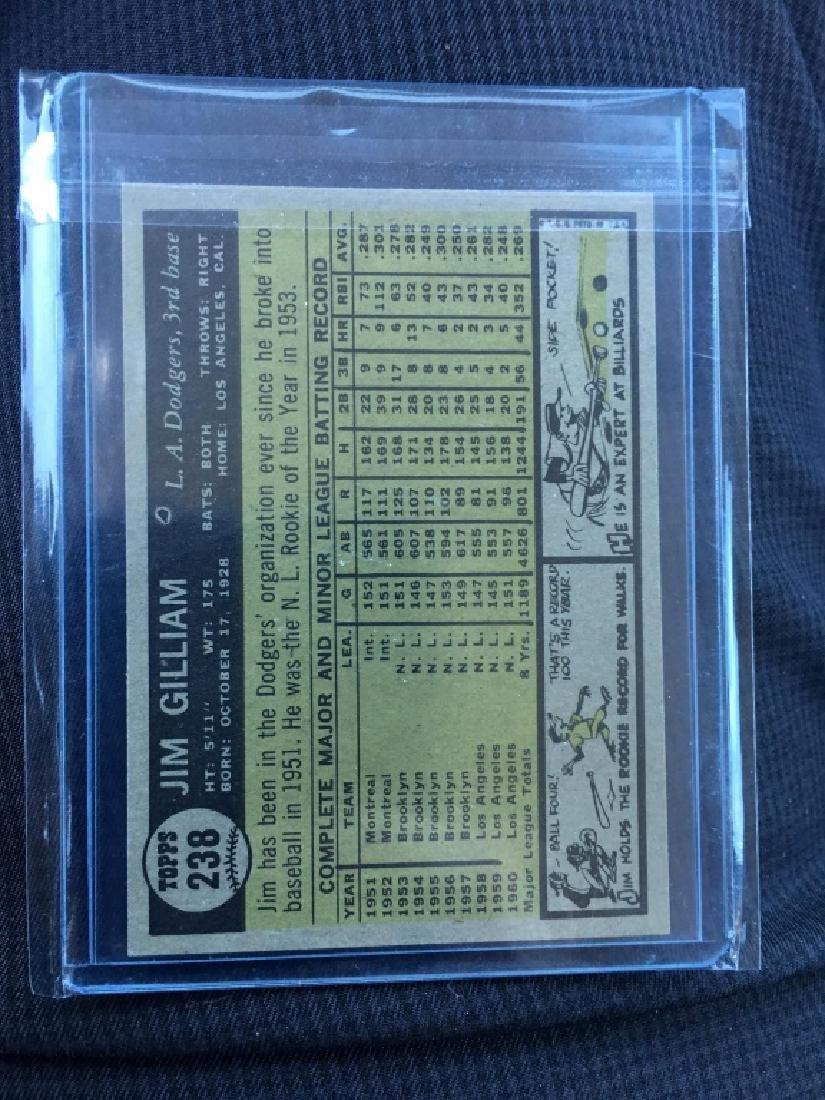 1961 TOPPS CARD#238 JIM GILLIAM - 2