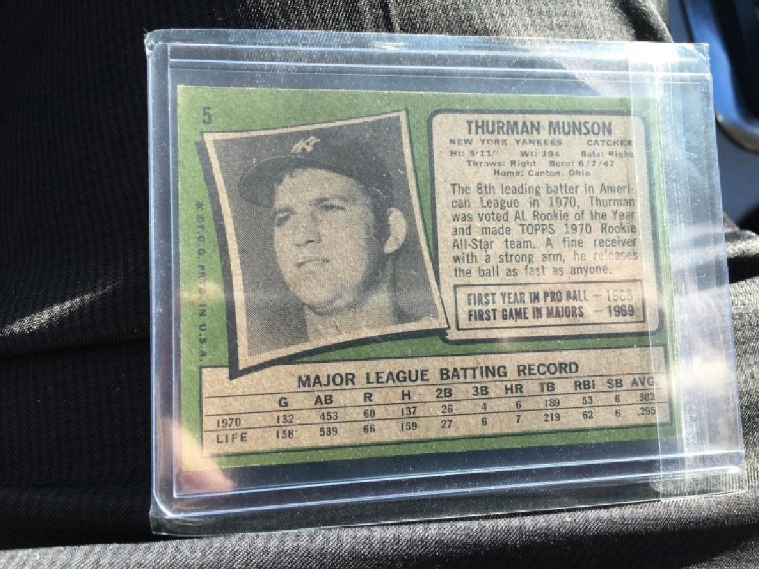 1971 TOPPS THURMAN MUNSON #5 (120.00) - 2