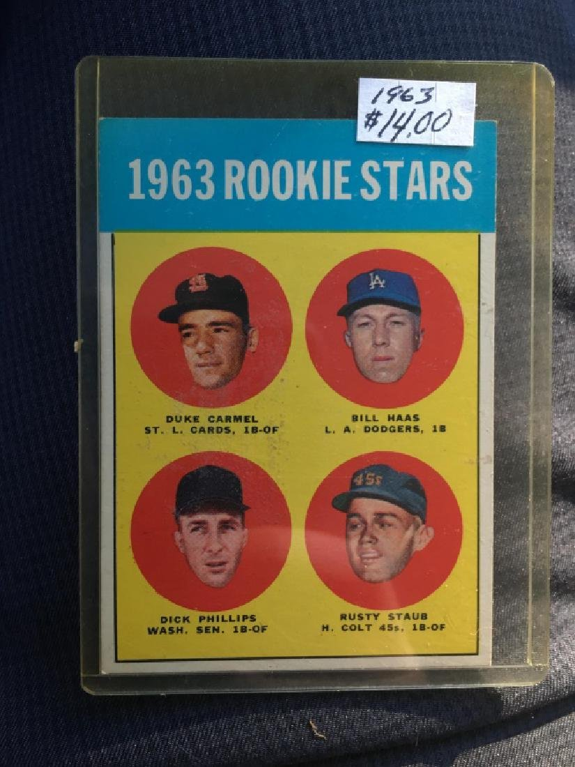 1963 ROOKIE STARS (RUSTY STAUB) 1963 TOPPS #544 -#