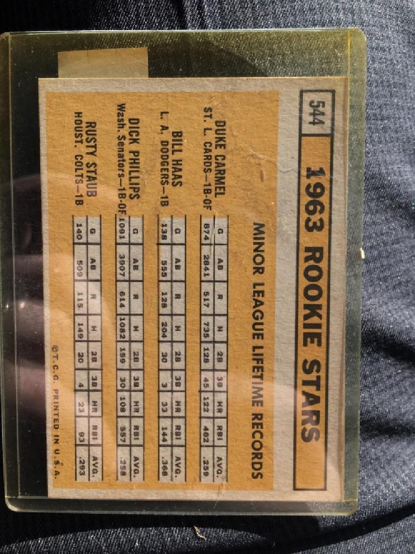 1963 ROOKIE STARS (RUSTY STAUB) 1963 TOPPS #544 -# - 2