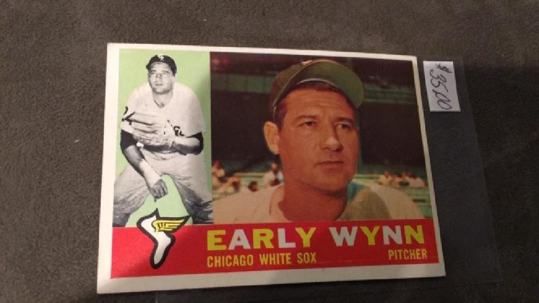 Early winter 1960 tops vintage baseball card nice - 2