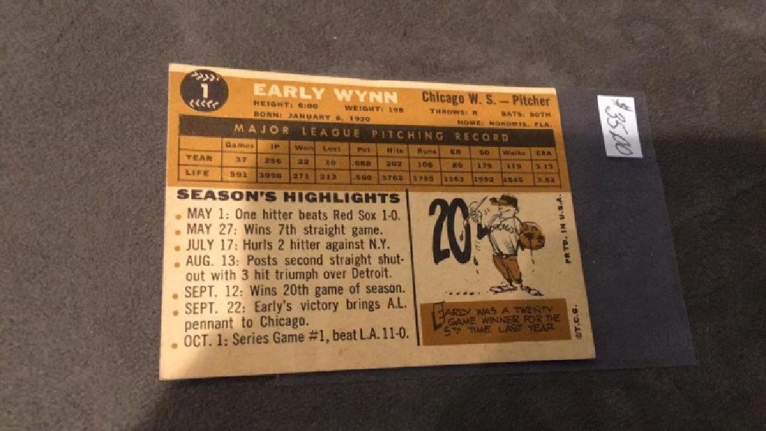 Early winter 1960 tops vintage baseball card nice - 3