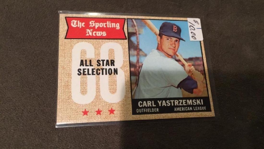 Carl Yastrzemski 1968 topps sporting news