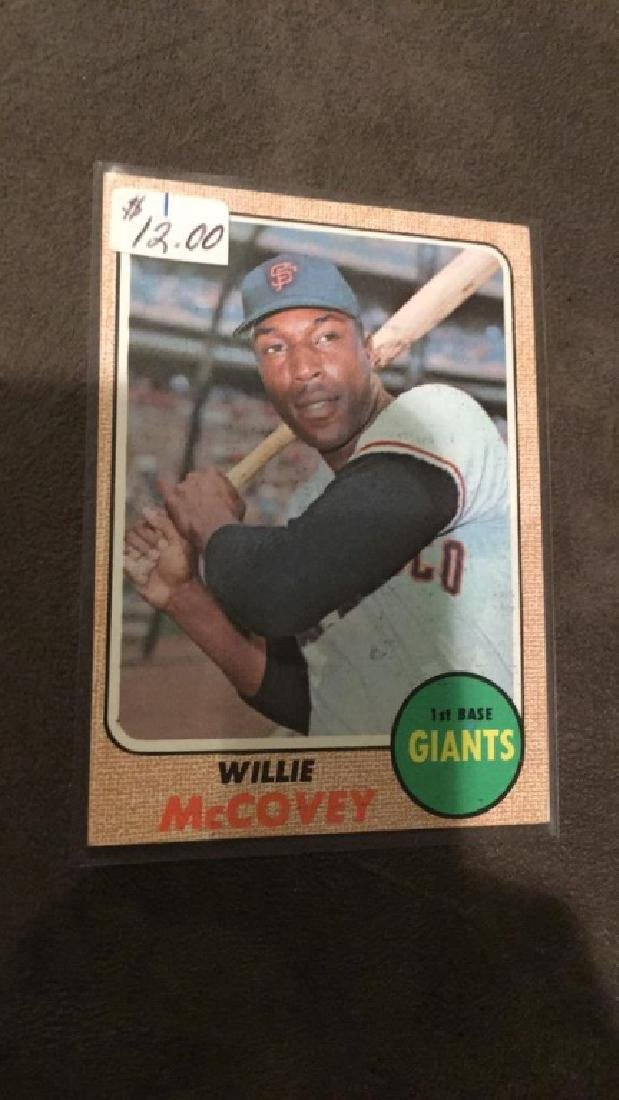 Willy McCovey 1968 Tops Vintage Card