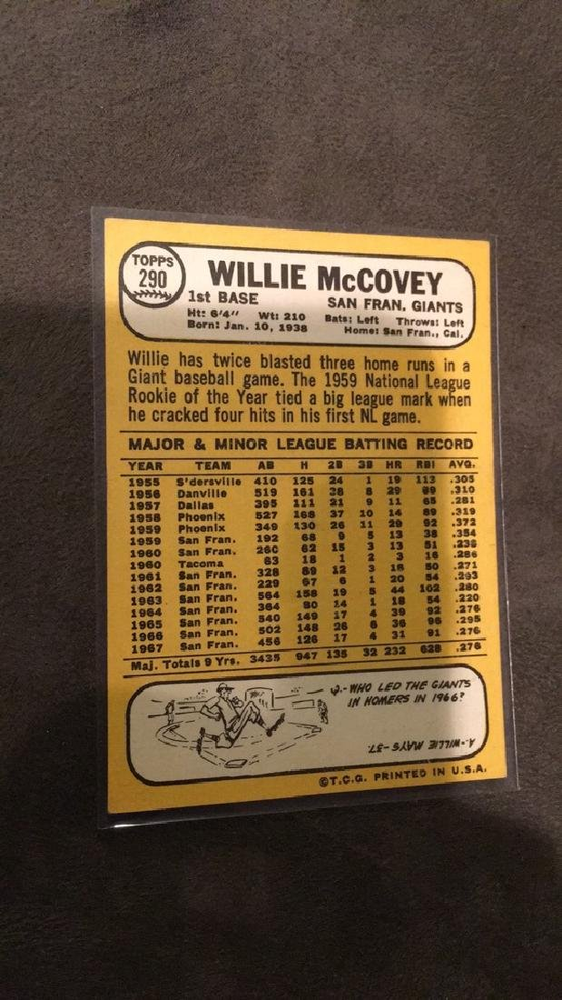 Willy McCovey 1968 Tops Vintage Card - 2