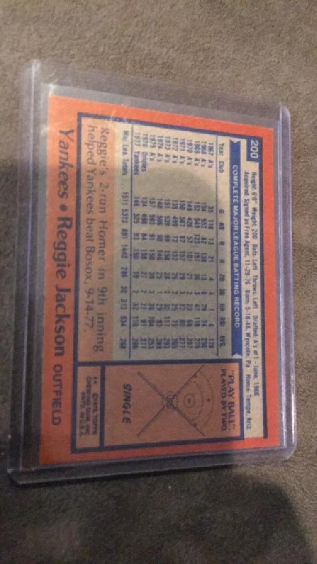 Reggie Jackson 1978 tops vintage card - 2