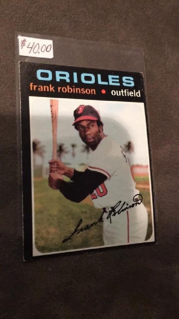Frank Robinson 1971 tops vintage baseball card