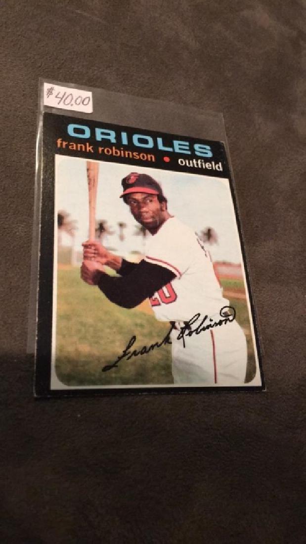 Frank Robinson 1971 tops vintage baseball card - 2