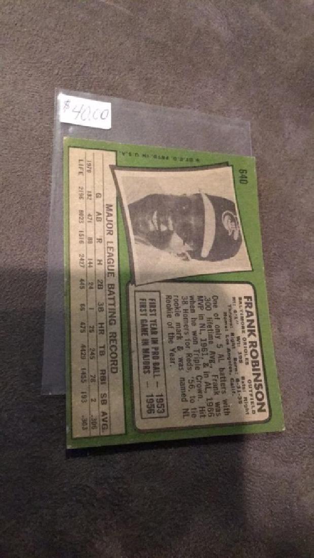Frank Robinson 1971 tops vintage baseball card - 3