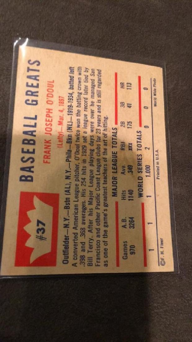Lefty O'Doul vintage fleer baseball great - 2