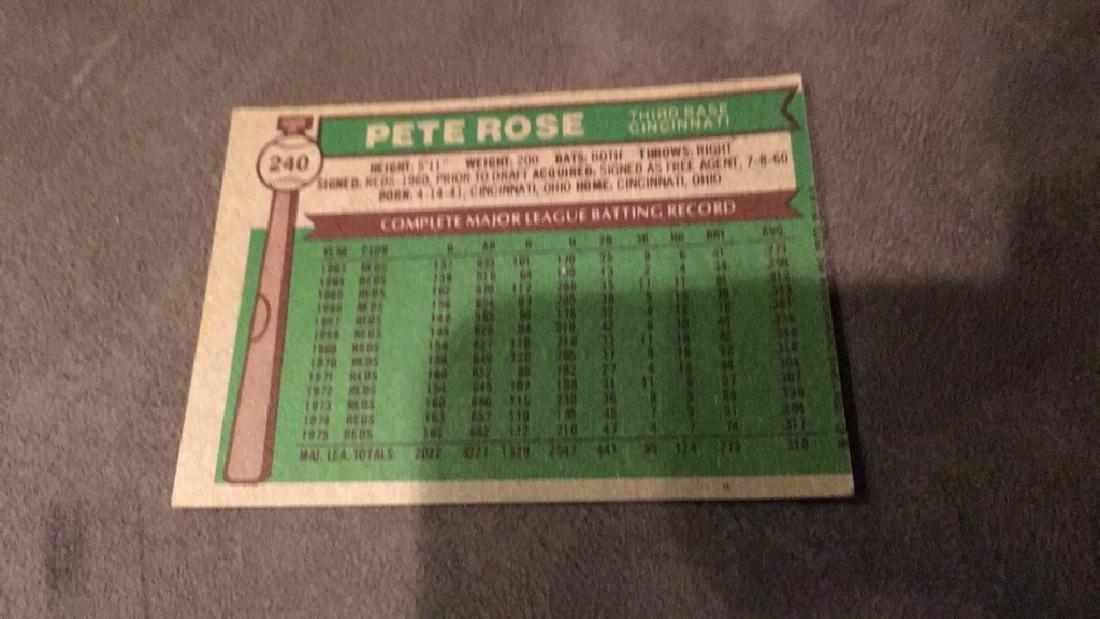 Pete Rose 1976 tops - 2