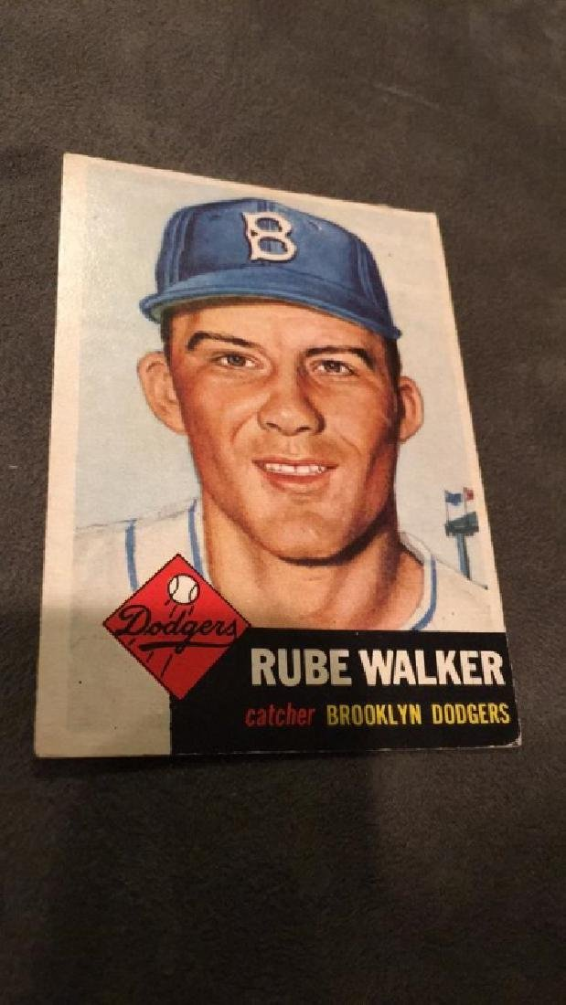 Rube Walker 1953 Topps - 2