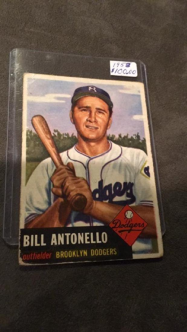Bill Antonello 1953 Bowman Card