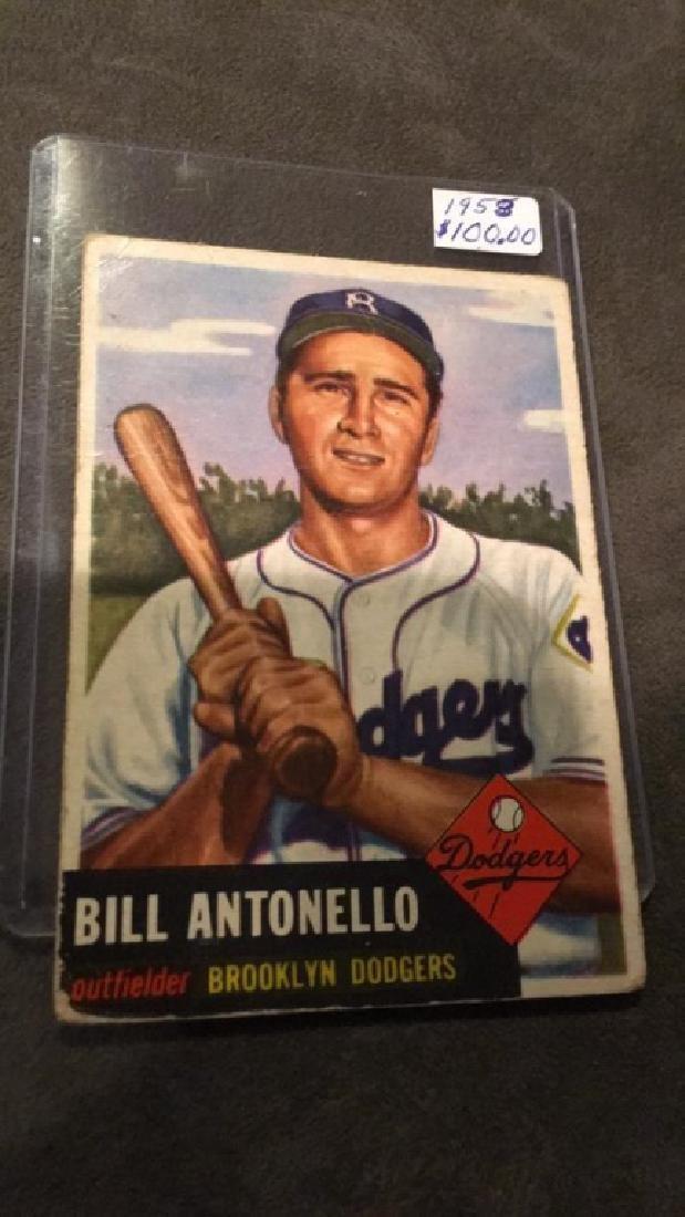 Bill Antonello 1953 Bowman Card - 2