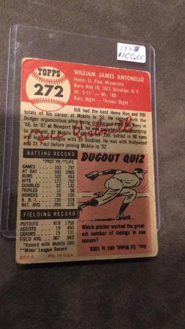 Bill Antonello 1953 Bowman Card - 3