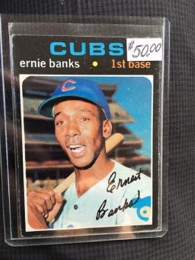 1971 TOPPS #525 ERNIE BANKS CHICAGO CUBS BASEBALL