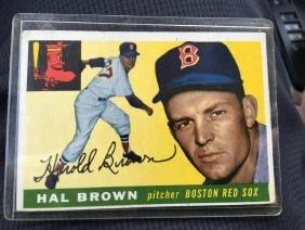 1955 Topps Set Break #148 Hal Brown