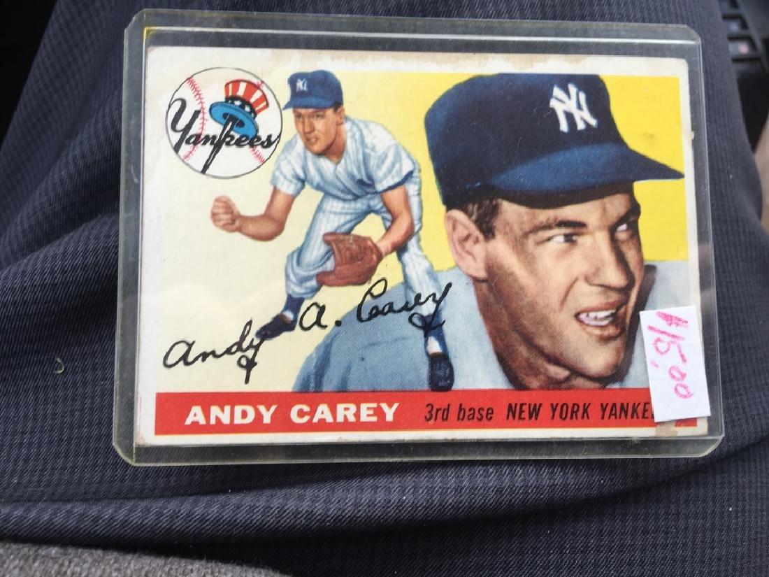 1955 TOPPS #20 ANDY CAREY NEW YORK YANKEES SET BR+-