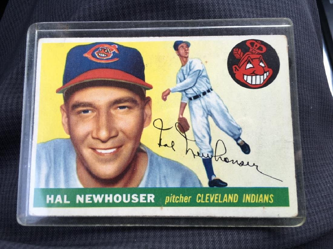 1955 Topps #24 Hal Newhouser Cleveland Indians